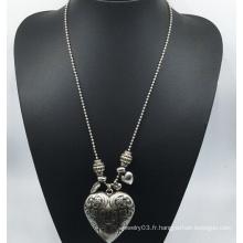 Grand Ccb coeur longue chaîne collier (xjw13768)