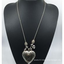 Big Ccb Heart Long Chain Necklace (XJW13768)