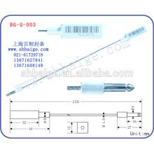 fechamento de recipiente BG-G-003, selo de impressão a laser, trava de vedação de segurança