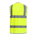 Reflective safety vest with functional pockets customizable