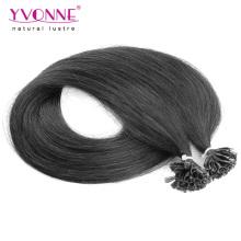 Extensions de cheveux Remy de couleur noire U Tip