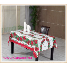 PVC Printed Tablecloth with Christmas Style (TJ0765)