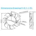 50*50*10 mm Stand Fan Dz5010 Cooling Fan