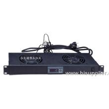 1u Digital Temperature Unit With 2 Fan Black