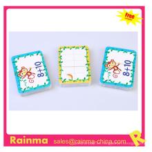 Tarjeta de juego de dibujos animados de papel para niños