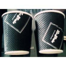 Tasse à café faite sur commande de papier peint d'ondulation