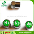 Liga de alumínio personalizado ar alerta pneu válvula tampas