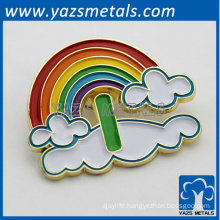 elegant rainbow metal badge for 2014 Christmas gifts