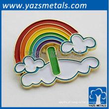 emblema de metal arco íris elegante para presentes de Natal 2014