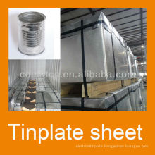 MR electrolytic prime tinplate 2.8/2.8 tinning bright finish T4CA for food can production