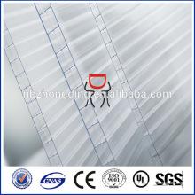 12mm transparente UV-Beschichtung Drei-Wand-Polycarbonat-Hohlblech