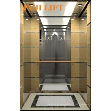 Hairline Mirror Etching Combination Passenger Elevator