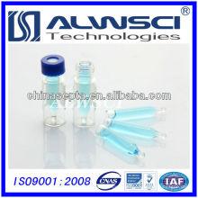 12x32mm 9-425 frasco con el vial de la cromatografía de la inserción frasco del vidrio claro