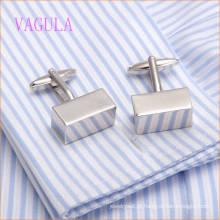 VAGULA New Arrival Rhodium algemas de camisa quadrado liso