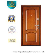 Puerta de acero de seguridad estilo chino para la entrada con color amarillo (L2-1001)