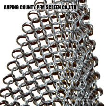 Ss Wire en acier inoxydable Ss316 8 x 6 pouces Scrubber Chainmail