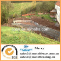 galvanized welded Galfan 3mm river erosion defence and seating area Gabion stone box wall