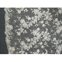 Stickerei weg von der weißen einzigartigen handgemachten Spitze für Hochzeits-Kleid 06
