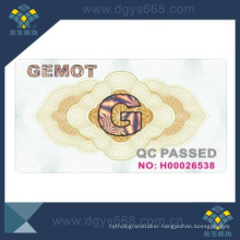 Embossed Security Paper Document Printing