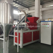 Plastic film squeezer dryer granulator machine