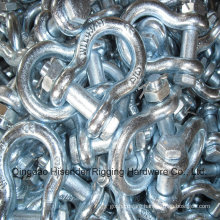 Us Type Drop Forged G2130 Bow Shackle, 4 Times, E. Galvanized