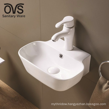 popular design white modern bathroom sanitary wall mount sink