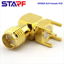 STA Right angle 90degree Reverse RPSMA Female Through Hole PCB Mount connector