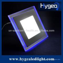 10W hot sales 90-120l / w led panneau de lumière avec bleu et blanc