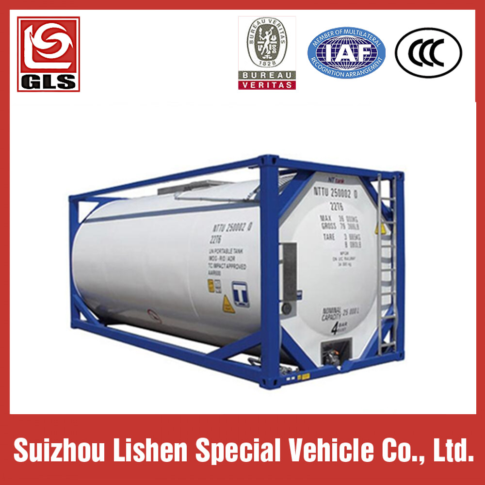 ISO 20ft 40ft Liquid Chemical Tanker Container Corrosive Tanker Storage