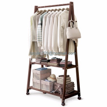 Wooden stand clothes hanger rack