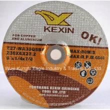 Centro deprimido de la muela de cobre y aluminio (230X6X22.2mm)