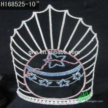 Coronas del desfile de los nuevos diseños Rhinestone Crown summer