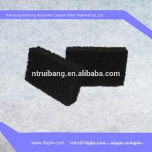 Filtro de aire en forma de panal de carbón activado con esponja de aire acondicionado