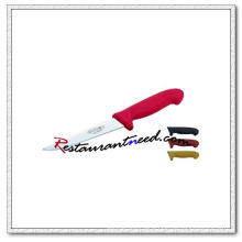 U406-2 6'' Boning Knife With Red Plastic Handle