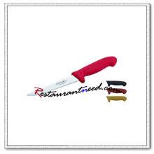 U406-2 6'' Boning Knife With Red Plastic Handle