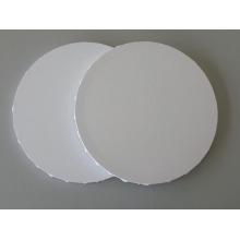 Leeres gestrecktes Segeltuch in der runden Form