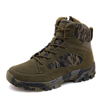 Winter outdoor military boots