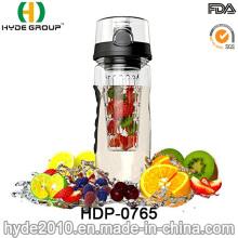 Botella de agua del infusor de la fruta de 32oz Tritan, botella plástica del infuser de la fruta del deporte (HDP-0765)