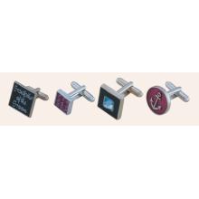 Металлические запонки с логотипом Square Promotional Stampe (GZHY-XK-011)