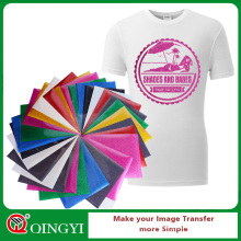 Qingyi heat transfer glitter vinyl sheets for t-shirt