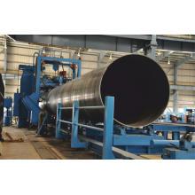 Línea de producción de tubería soldada en espiral de pared hueca soldada