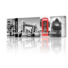 Pintura 3D da ponte da torre de Londres na lona