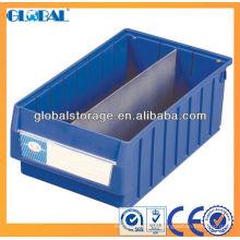 Bunte Regal-Vorratsbehälter mit Griff und Teiler / Plastiklagerbehälter mit Deckeln
