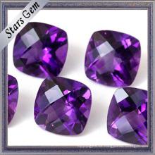 Brilliant brillante cojín corte 5X5mm hermosa púrpura natural amatista