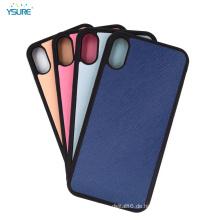 Kundenspezifischer lederner Handy-Kasten für Iphone X