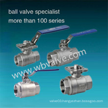 2 Pieces Stainless Steel 316 Threaded Ball Valves