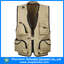 Custom Design Fashionable 100%Polyester Work Vest with Competitive Price