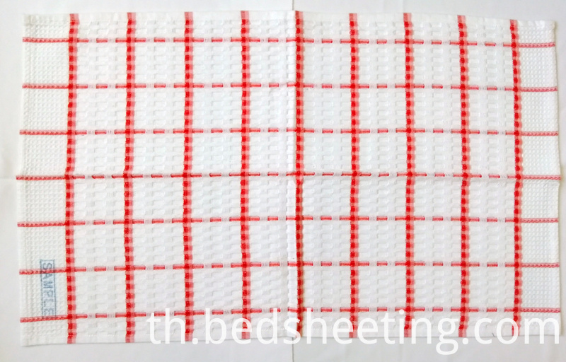 Orange Yarn Dyed Check Tea Towel