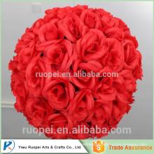 Novos produtos quentes para bolas rosas vermelhas artificiais para casamentos