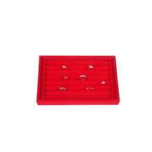 Red Velvet Foam Ring Halter Organizer Tray (TY-RFL8P)